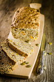 Irish bread with grains and raisins — Stock Photo