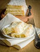 White Angel Food Cake — Stock Photo