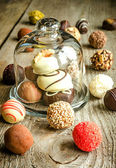 Luxury chocolate candies — Stock Photo