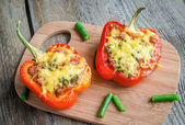Stuffed pepper with meat — Stock Photo