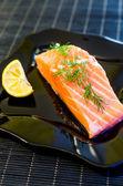 Salmon steak — Stockfoto