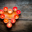 St Valentine's day candles — Stock Photo #40633315