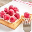 Stock Photo: Raspberry cake