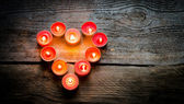 St Valentine's day candles — Stock Photo