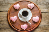 Sweet hearts on Valentine's Day celebration — Stock Photo