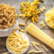 Various types of pasta — Stock Photo #41609615