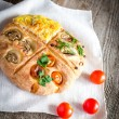 Stock Photo: Homemade Four-Section Focaccia