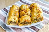 Homemade sausage rolls — Stock Photo