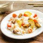 Постер, плакат: Basmati rice with seafood
