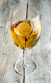 Wineglass with white wine — Stock Photo