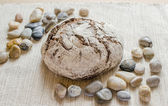 Dark rye bread — Stock Photo