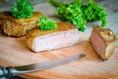 Beef Steak - cross section — Stock Photo