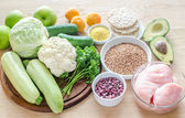 Hypoallergenic diet: products of different groups — Stock Photo