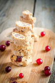 Biscotti with dried cranberries — Stock Photo