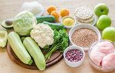 Hypoallergenic diet: products of different groups — Foto de Stock