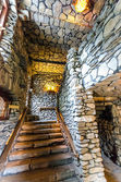 Gillette Castle stairs — Stock Photo
