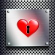 Stock Photo: Door lock as heart