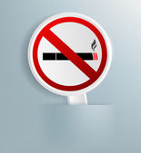 Plaque designating smoking ban — Stock Photo