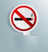 斑块指定禁止吸烟 — 图库照片