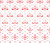 Vector pattern on a red background — Stock Vector