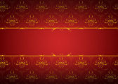 Vector pattern on a red background — Stockvector