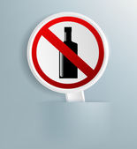 Sign indicating the prohibition of alcohol — Stock Vector