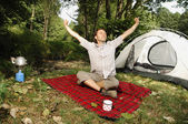 Camping serie — Stock Photo