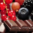 Fruits and chocolate - Stock Photo