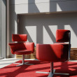 Two Red Seats In A Meeting Room — Lizenzfreies Foto