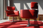 Two Red Seats In A Meeting Room — Stock Photo