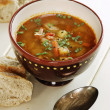 Delicious cabbage soup — Stock Photo