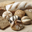 Variation of wholemeal Bread — Stockfoto