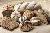 Variation of wholemeal Bread — Stock Photo