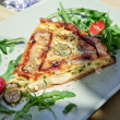 Stock Photo: Vegetable Quiche