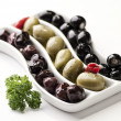 Three sorts of olives — Stock Photo #25503047