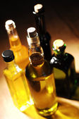 Variety of Cooking Oil on a table — Stock Photo