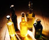 Varietà di oli da cucina — Foto Stock