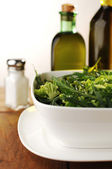 Fresh Green Salad with Arugula, Rocket — Stock Photo