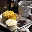 Stock Photo: Irish cream tea