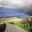 Sicilian landscape with beautiful rainbow — Stock Photo