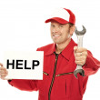 Mechanic in red Overall — Stock Photo #25881805