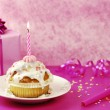 Birthday Muffin — Foto Stock