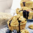 Delicious blueberry, oatsmeal and buttermilk muffins — Stockfoto