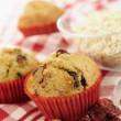 Stock Photo: Delicious cranberry oatmeal muffins