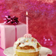Stock Photo: Birthday Muffin