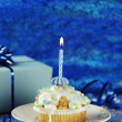 Birthday Muffin — Stockfoto