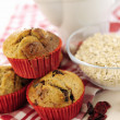 Delicious cranberry oatmeal muffins — Stock Photo #25899237