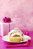 Birthday Muffin — Stock Photo