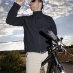 Mountain Biker Drinking Water — Stock Photo #25981413