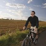 Man Riding A Mountain Bike — Stock Photo #25983013